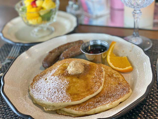 Pancake Breakfast served in your cottage