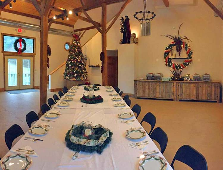 Christmas in the Barn at our Galena Venue