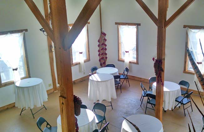 Empty Tables in the Barn