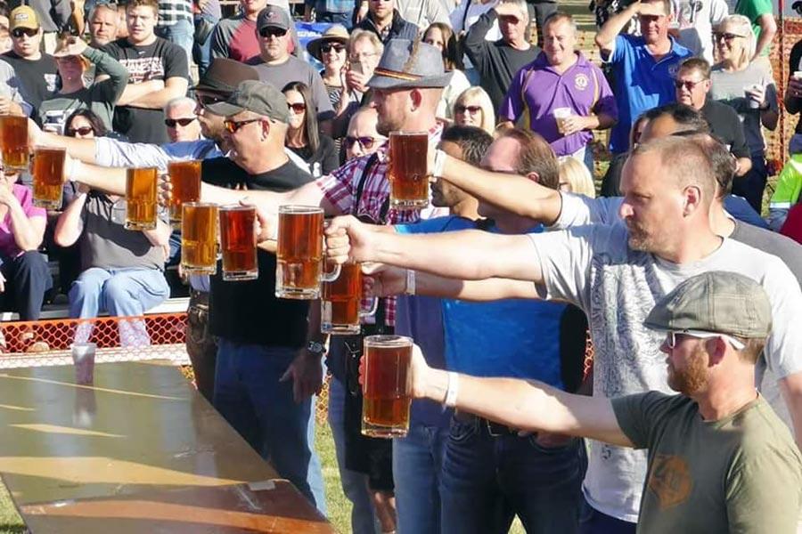 Beer Stein Endurance contest at Galena Oktoberfest